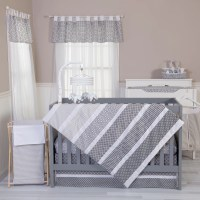 Trend Lab Ombre Gray 3 Piece Crib Bedding Set & Reviews