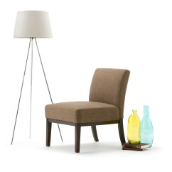Brown Slipper Chair Dining Chairs With Arms Simpli Home Upton Wayfair