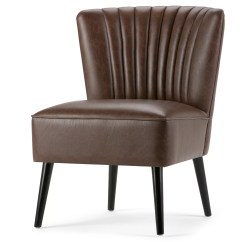 Brown Leather Slipper Chair Covers Adelaide Hire Simpli Home Hollyford Wayfair