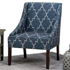 Blue Pattern Accent Chair Huge Camping Simpli Home Hayworth Moroccan Slipper Wayfair