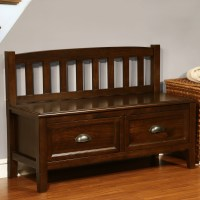 Simpli Home Burlington Wood Storage Entryway Storage Bench ...