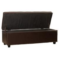 Simpli Home Hamilton Upholstered Storage Ottoman & Reviews ...