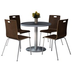 Round Table And Chair Set Vintage Folding Kfi Seating Cafeteria Wayfair