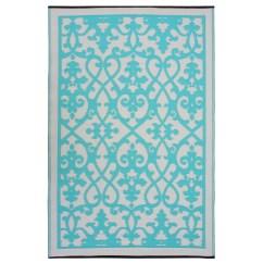 Turquoise Kitchen Rugs Floor Mats Walmart Fab World Venice Cream And Indoor Outdoor