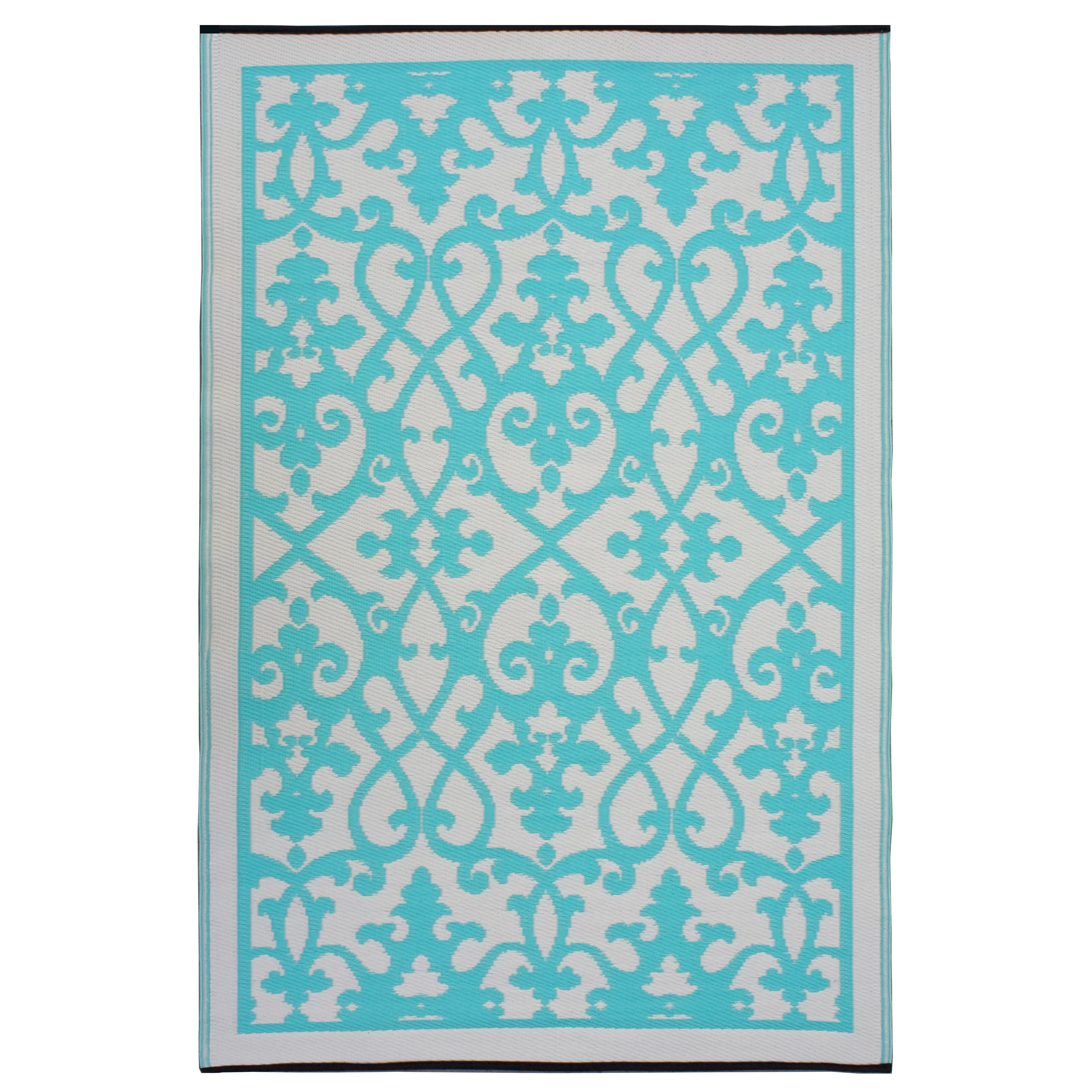Outdoor Teppich Habitat Fab Rugs World Venice Cream And Turquoise Indoor Outdoor