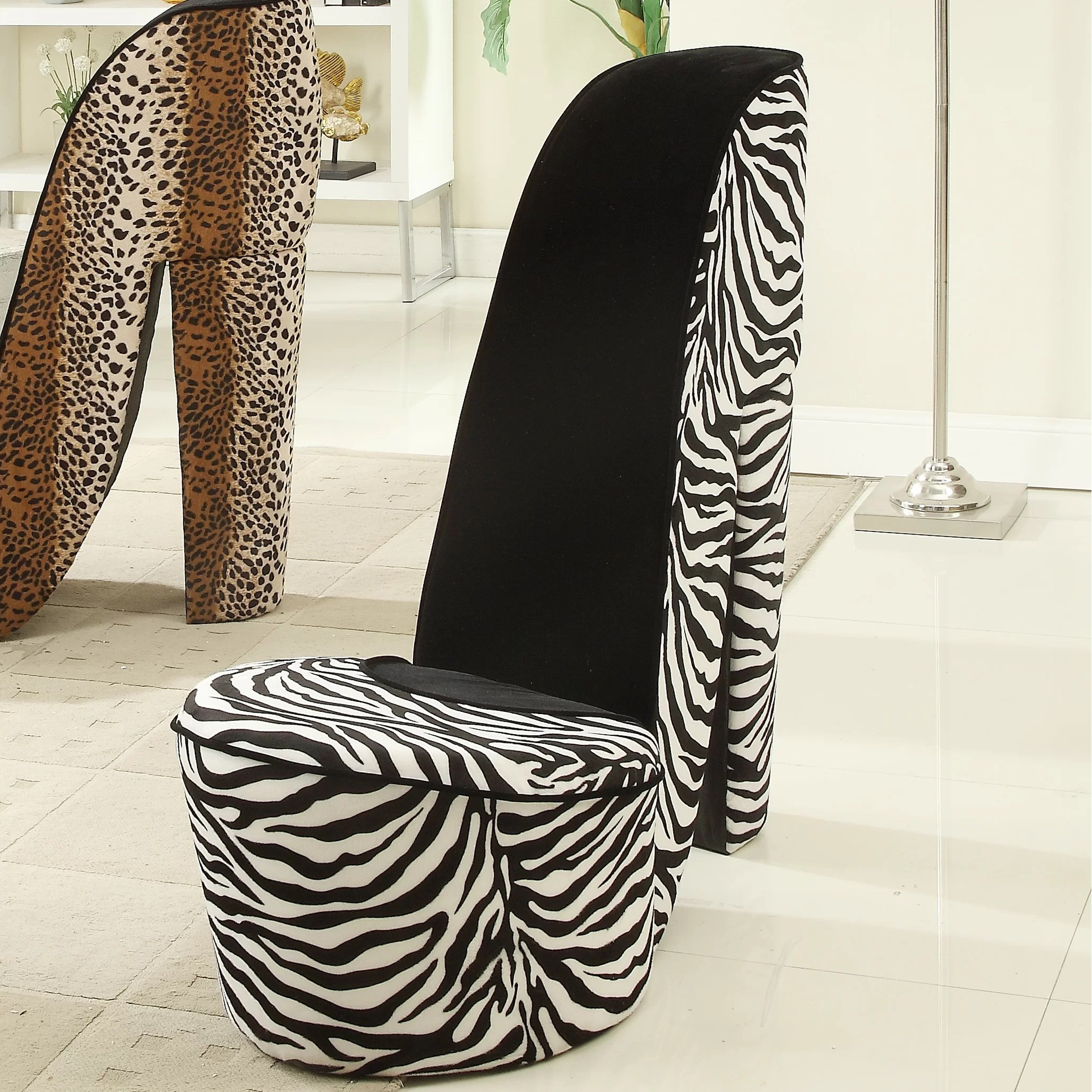 tiger print dining chairs snap on rolling chair williams import co zebra high heel and reviews wayfair