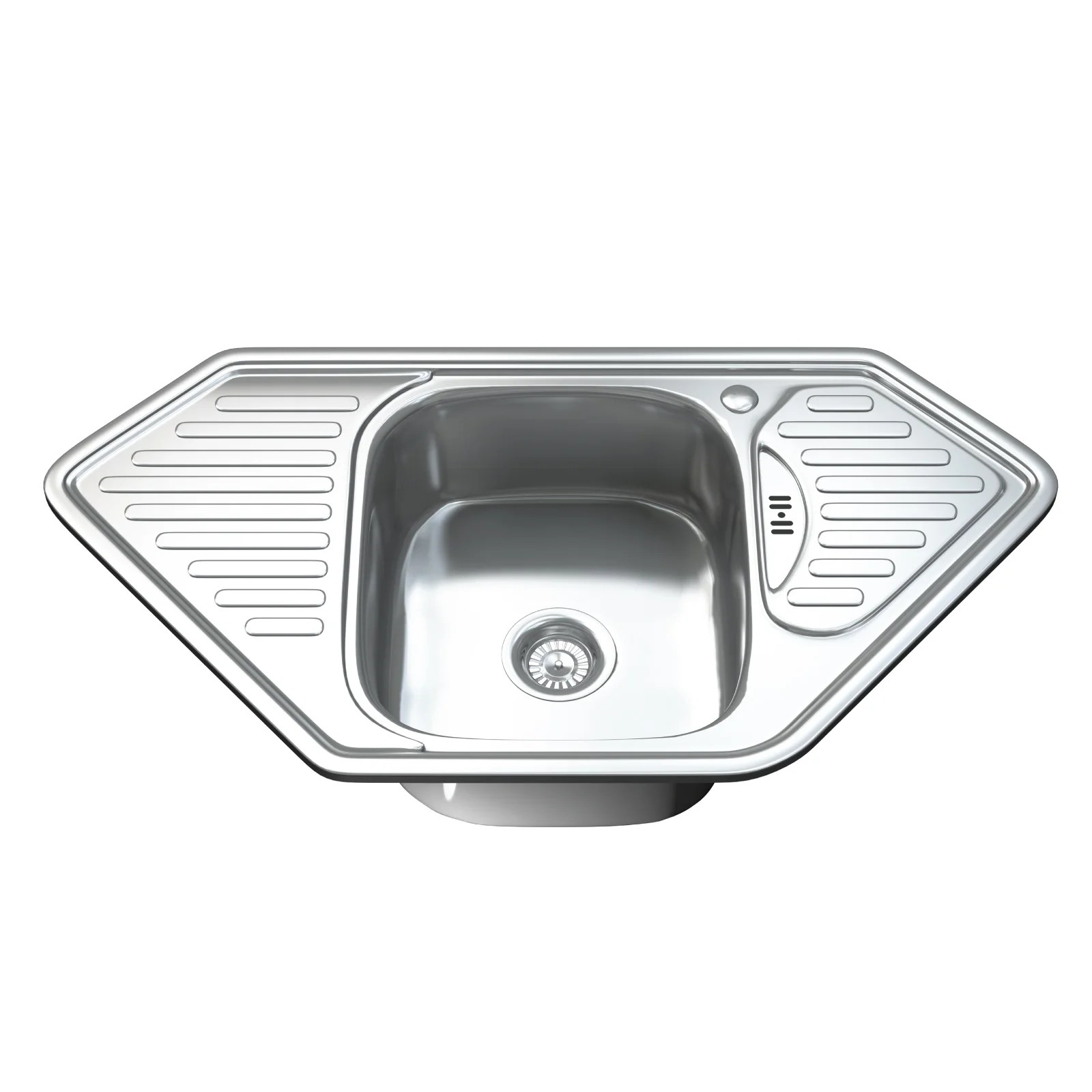 stainless steel kitchen sink reviews cart with stools dihl 95cm x 50cm and