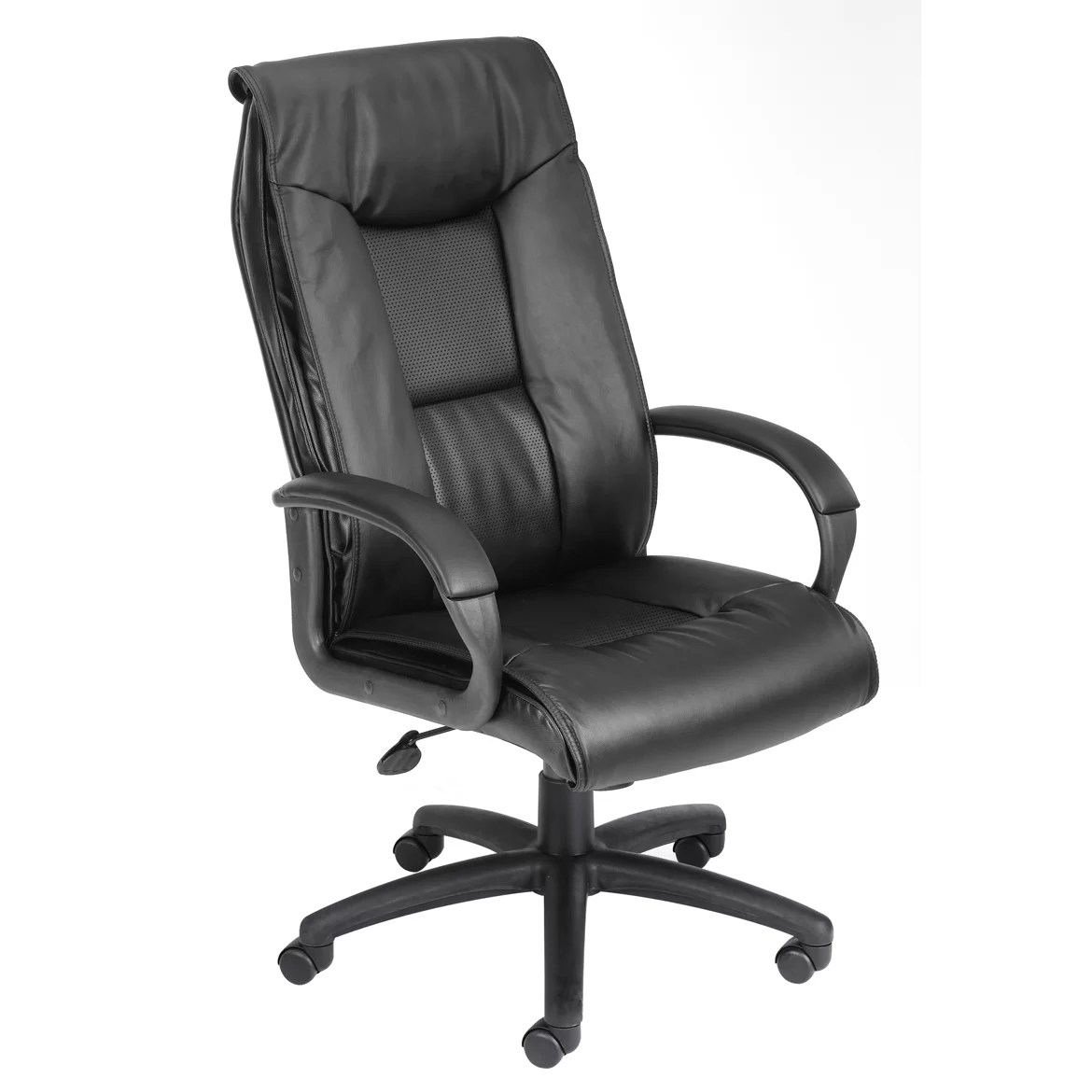 Boss Office Products Leather Executive Chair  Reviews  Wayfair