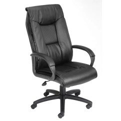 Wayfair Office Chairs Fabric To Cover Kitchen Boss Products Leather Executive Chair And Reviews