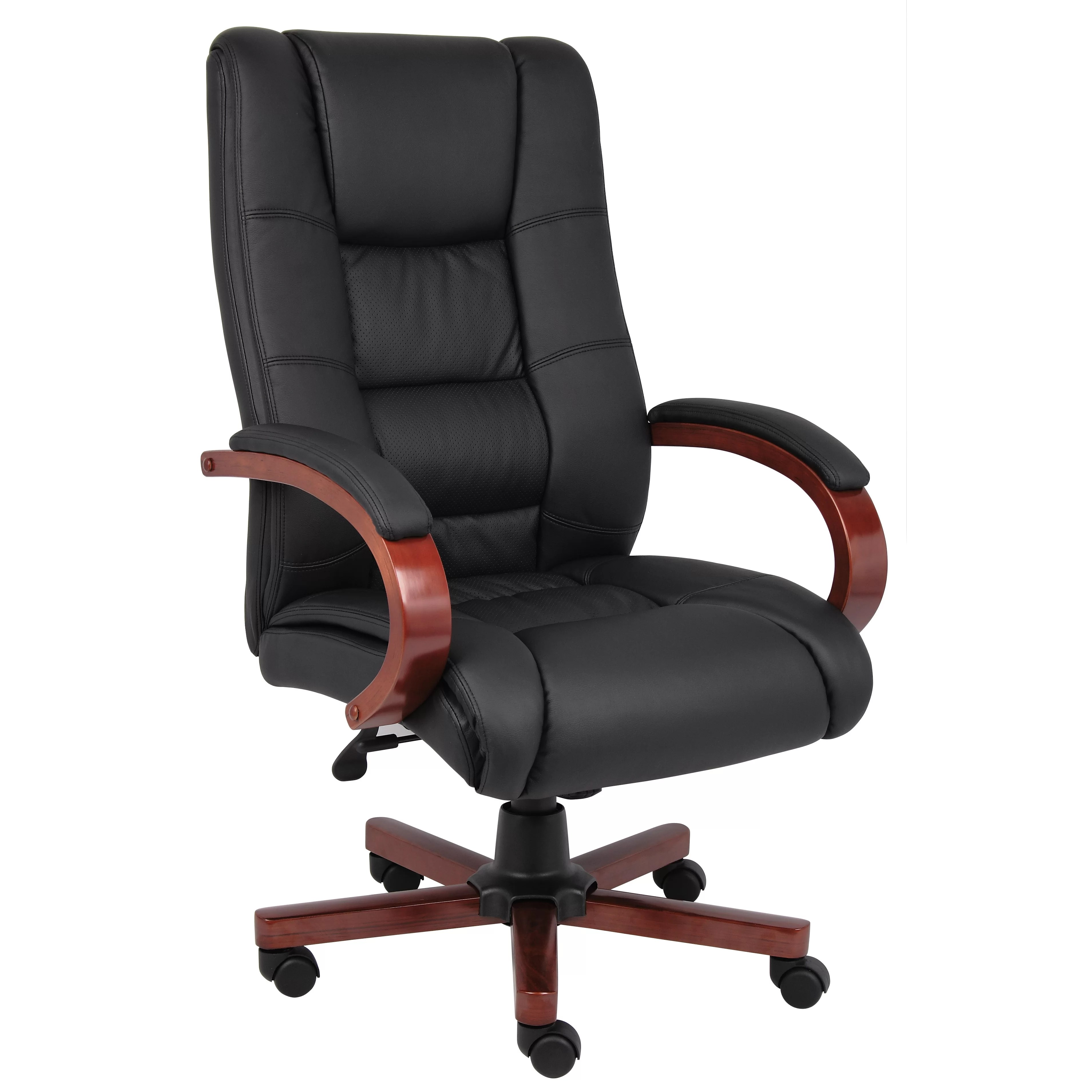 High Back Office Chairs Boss Office Products High Back Executive Chair And Reviews