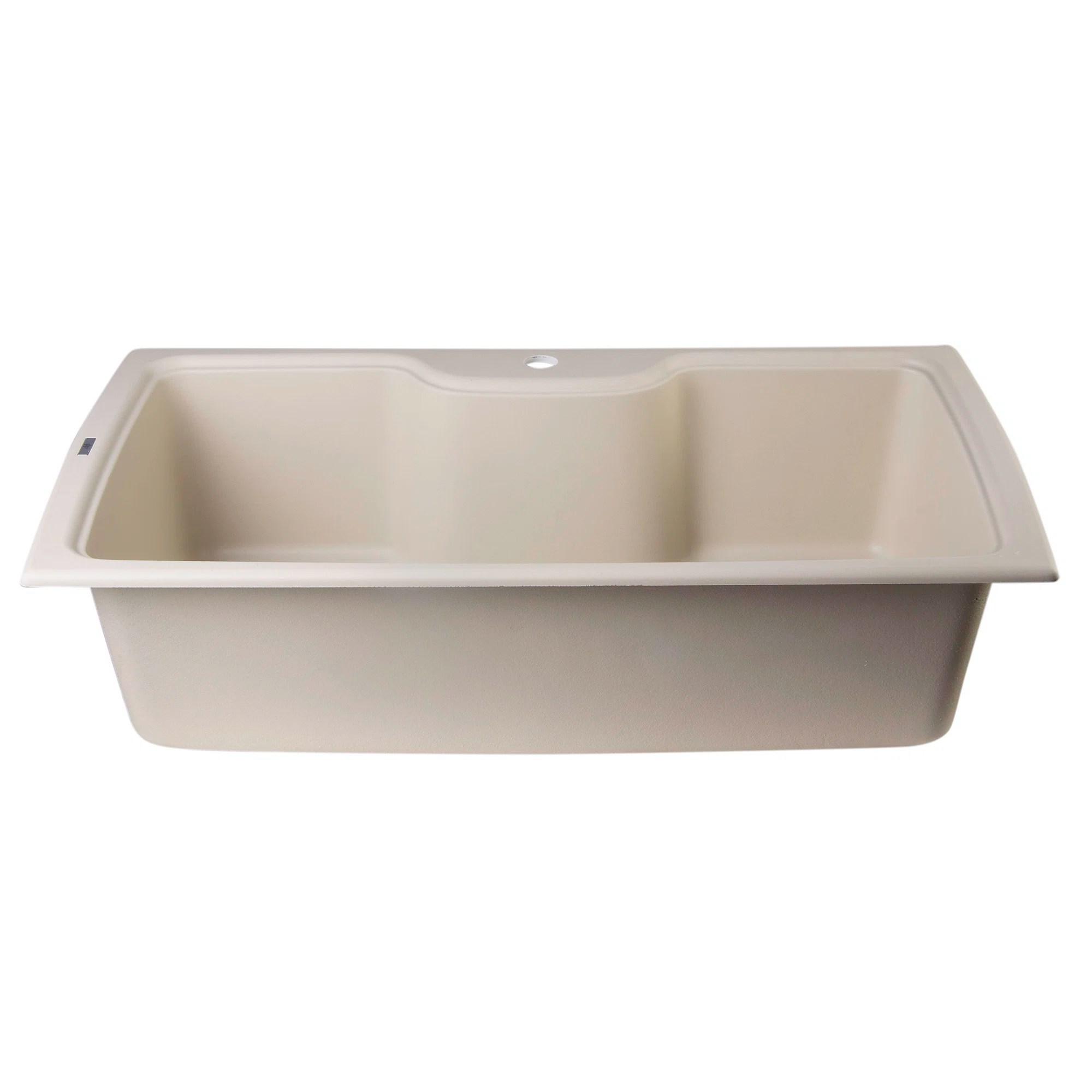 single bowl kitchen sinks murphy table alfi brand 34 63 quot x 19 69 drop in