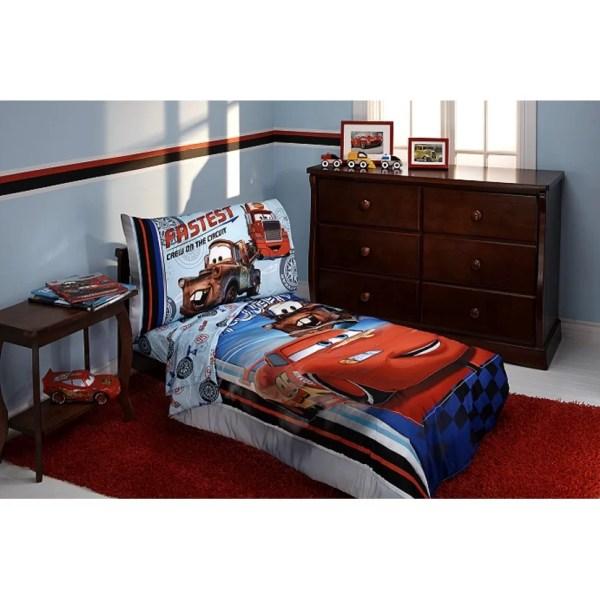 Disney Fastest Team 4 Piece Cars Toddler Bedding Set &