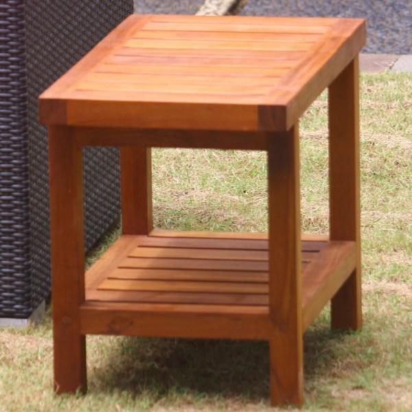Aqua Teak Spa Shower Bench With Shelf &