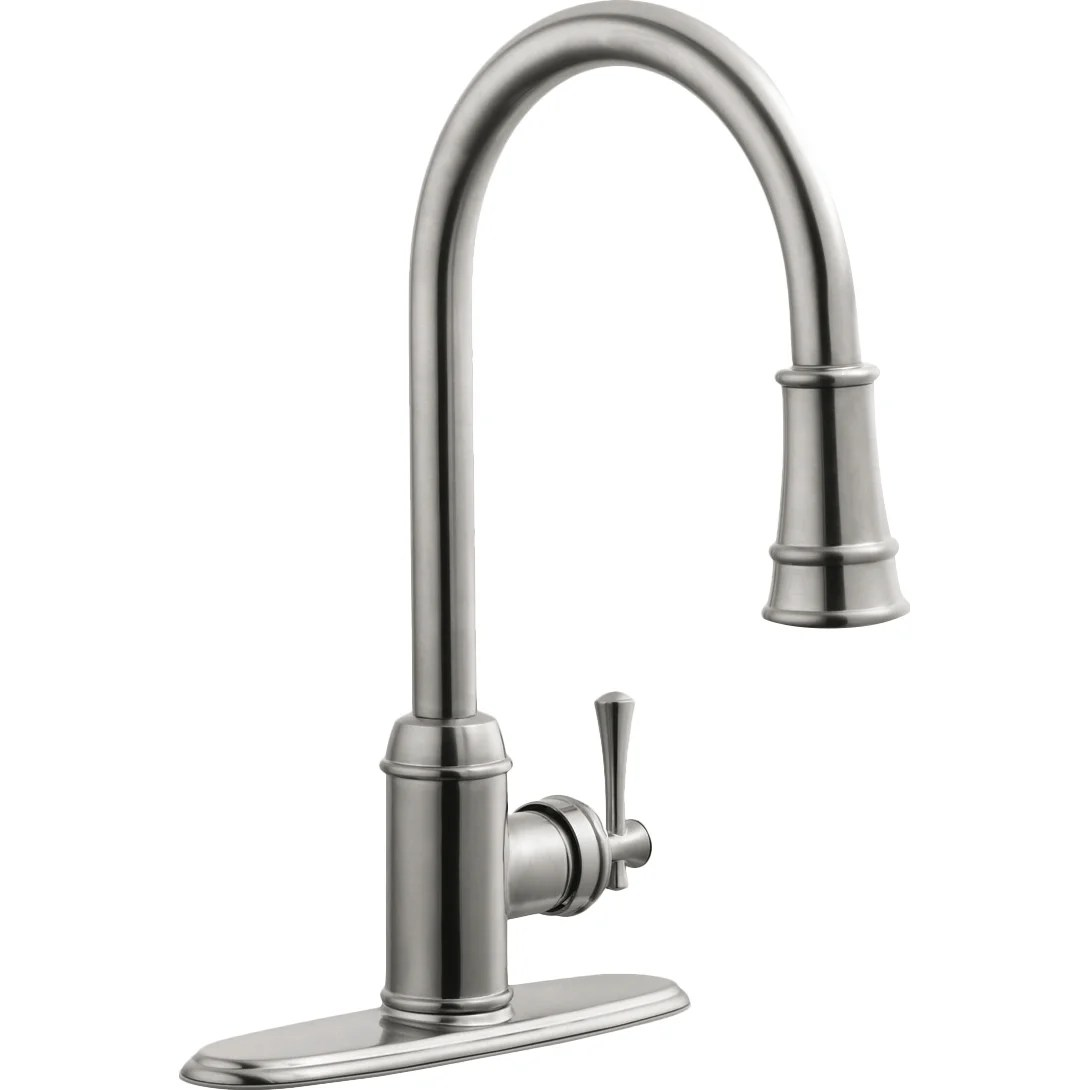single kitchen faucet french cabinets design house ironwood handle with