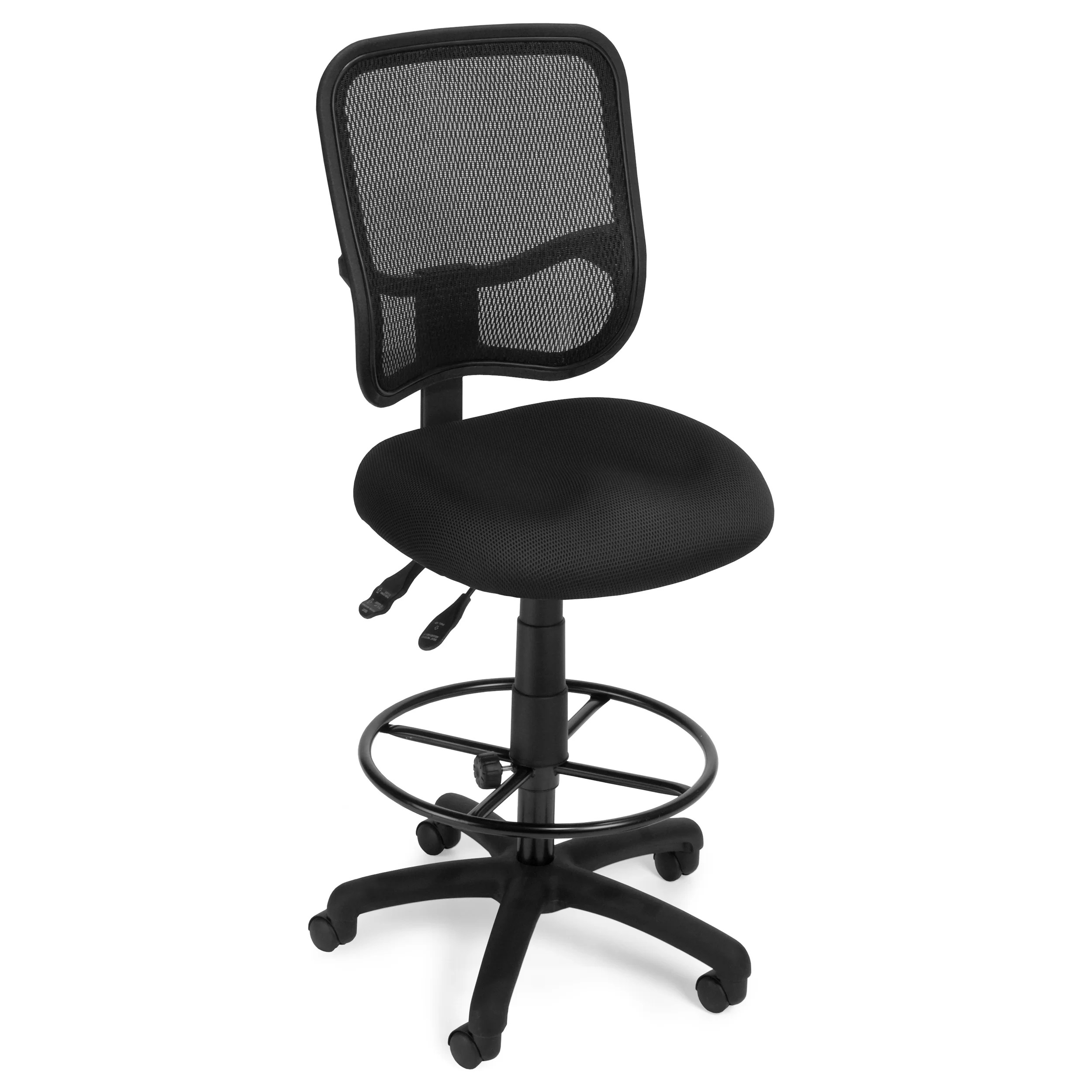 mid back mesh chair office adjustments ofm ergonomic drafting and reviews wayfair