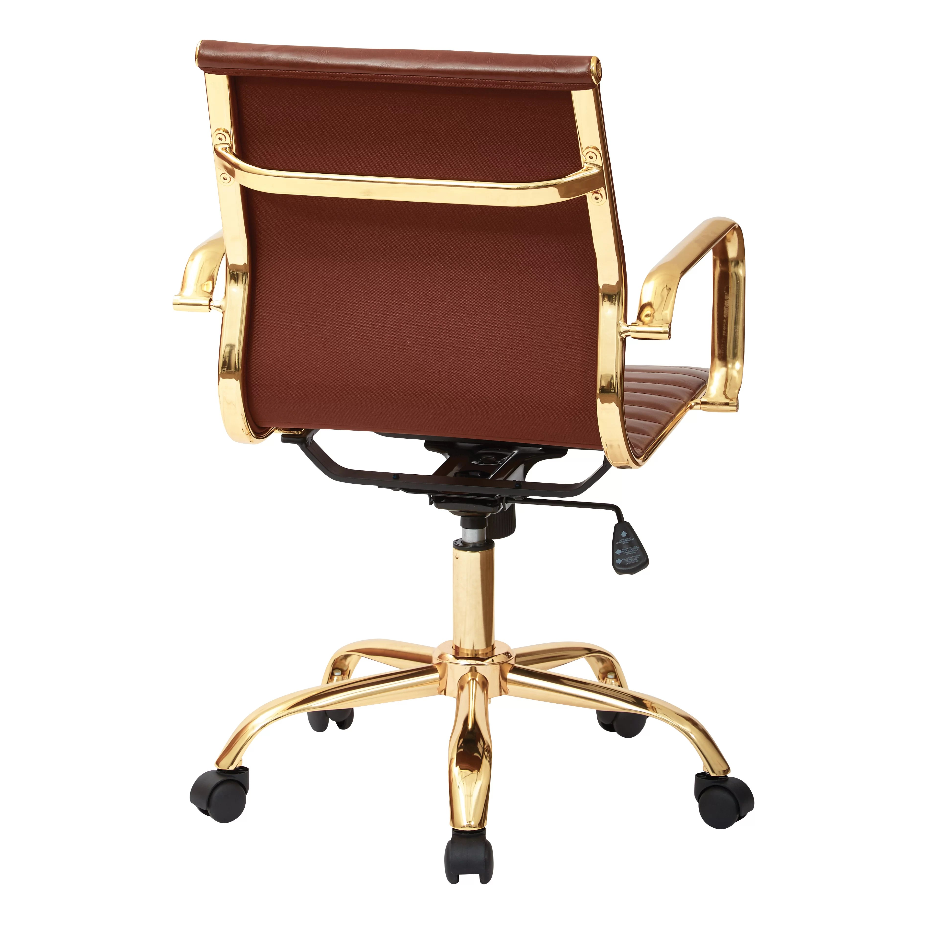 office star chairs chocolate brown accent desk chair and reviews wayfair