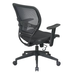 Office Chair With Adjustable Arms Resin Chaise Lounge Slat Seat Star Space Mid Back Task