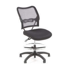 Adjustable Drafting Chair Grey Swivel Office Star Height With Footring