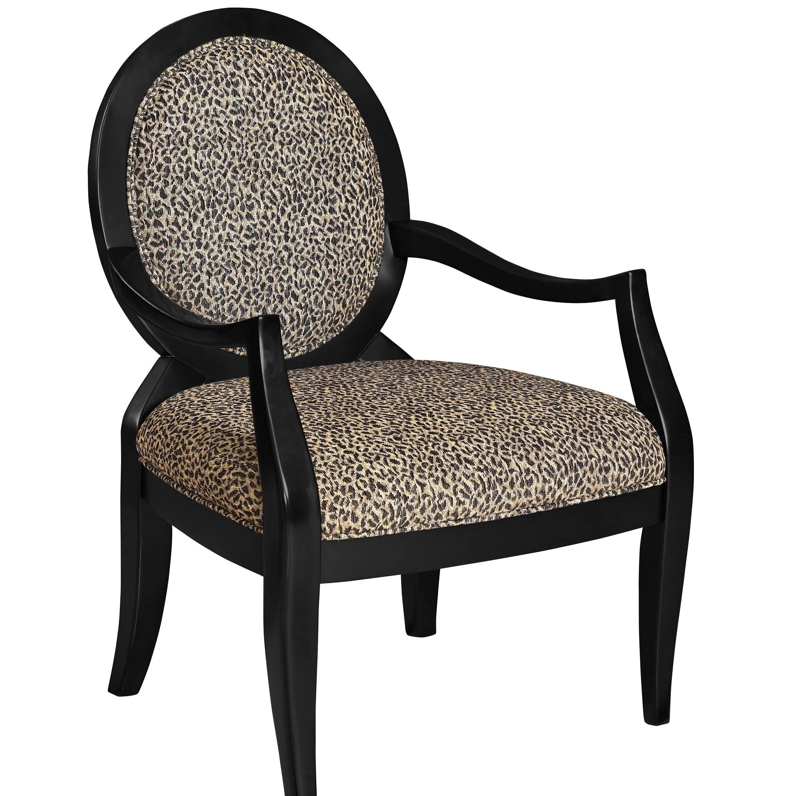 cheetah print accent chairs xxl bean bag chair powell classic seating leopard fabric arm and reviews