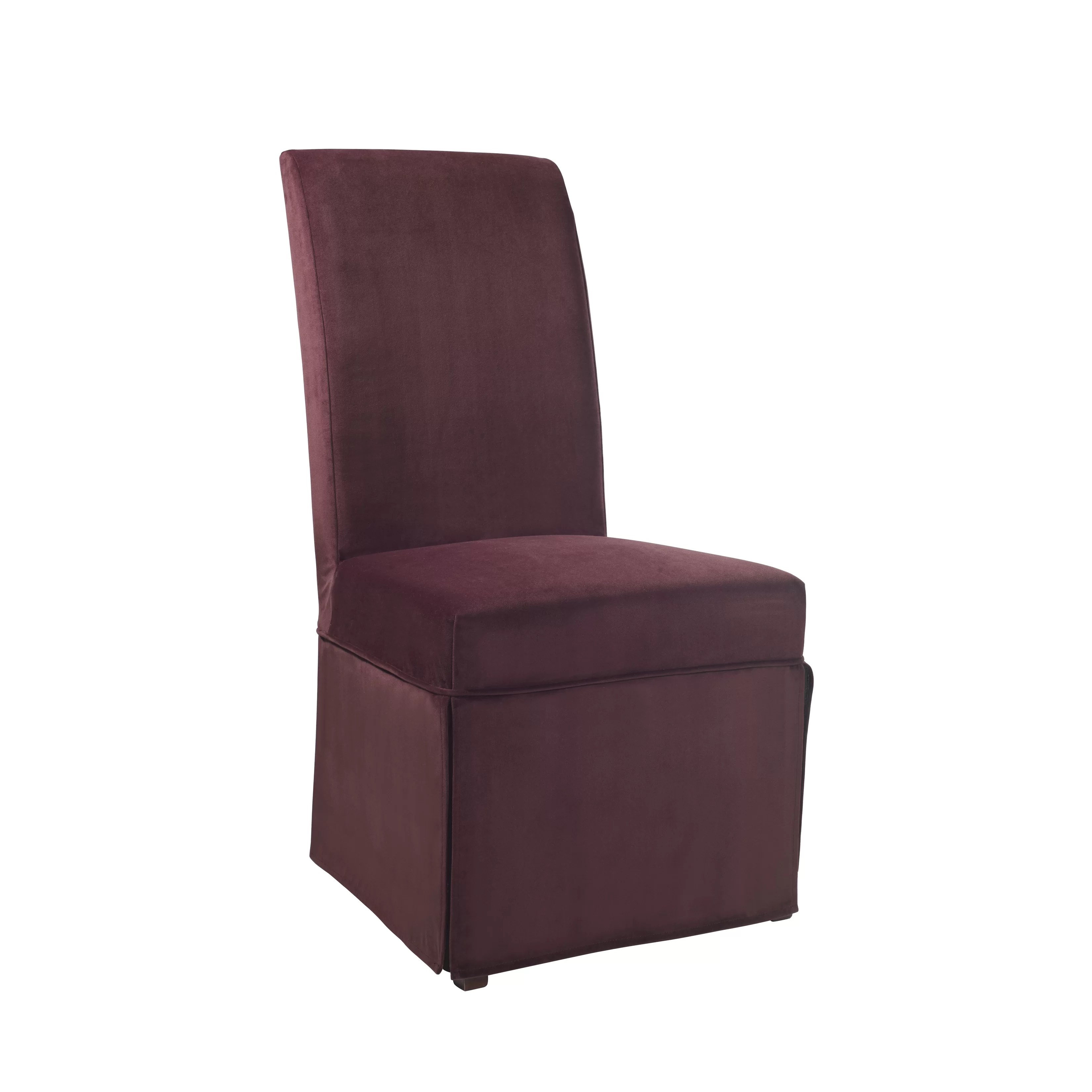 dining chair covers velvet swivel wicker patio chairs powell skirted slipcover and reviews wayfair ca