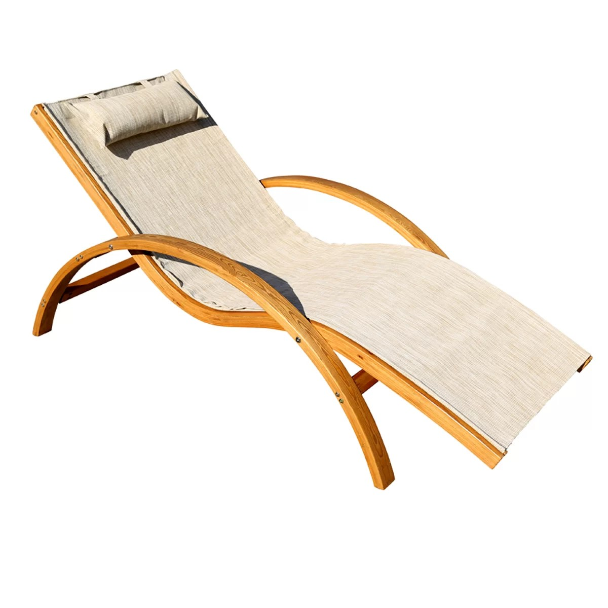 Sling Chaise Lounge Chair Leisure Season Sling Lounge Chair With Cushion And Reviews