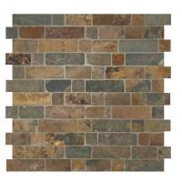 MSI Random Sized Slate Mosaic Tile in California Gold ...