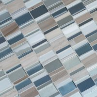 MSI Random Sized Glass/Stone/Metal Mosaic Tile in Taupe
