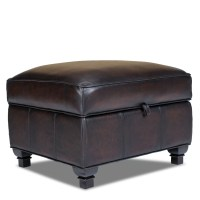 Opulence Home Pablo Leather Storage Ottoman & Reviews