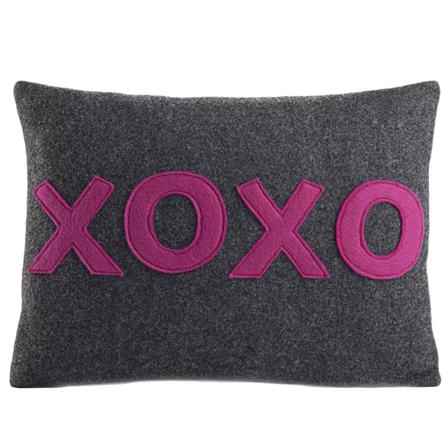 Alexandra Ferguson It Starts With A Kiss XOXO Throw Pillow