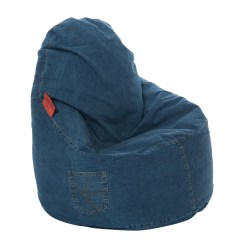 Denim Bean Bag Chair Designer Charles Kaikoo Ezee And Reviews Wayfair Uk