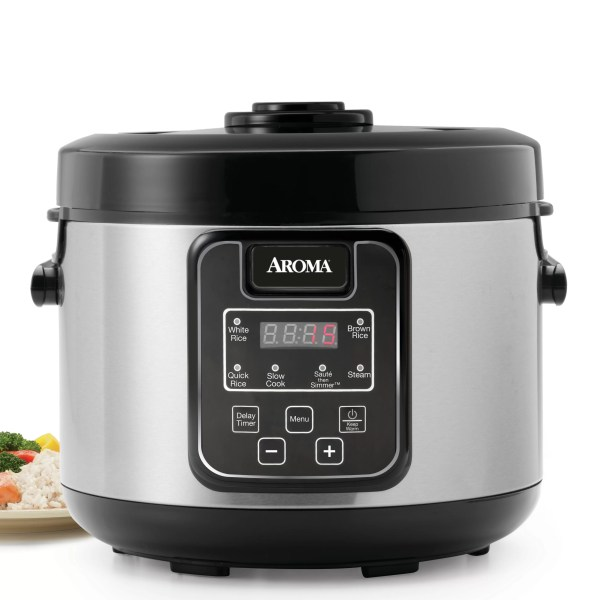 Aroma 16-cup Slow Cooker Food Steamer And Rice