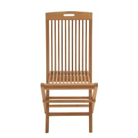 Woodland Imports Comfortable Wood Teak Folding Chair ...
