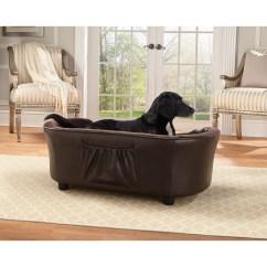 Enchanted Home Mackenzie Pet Sofa Italian Leather Yellow Panache Dog And Reviews Wayfair