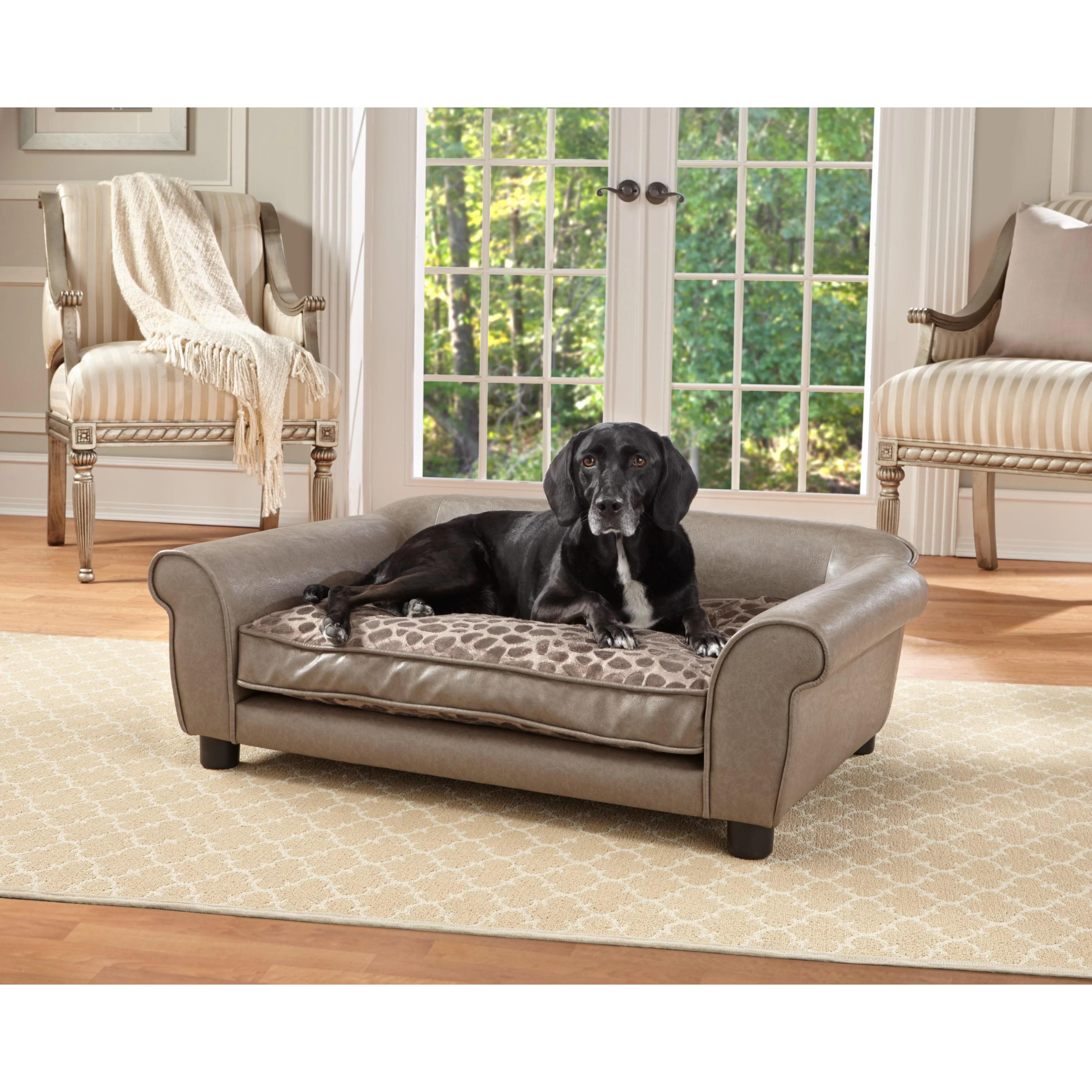 enchanted home mackenzie pet sofa carved set rockwell dog and reviews wayfair