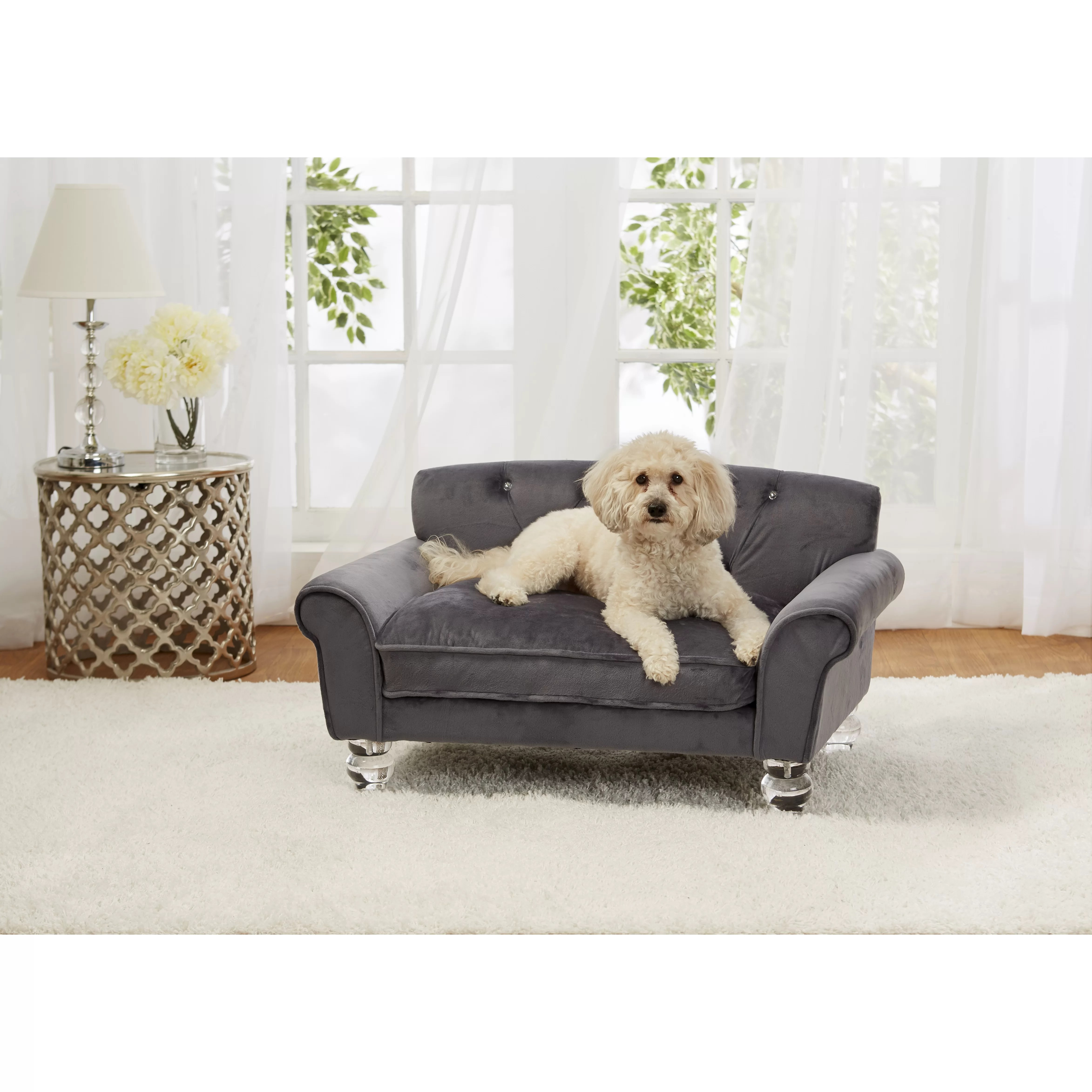velvet 5in1 air sofa bed reviews platform singapore enchanted home pet la joie dog with cushion