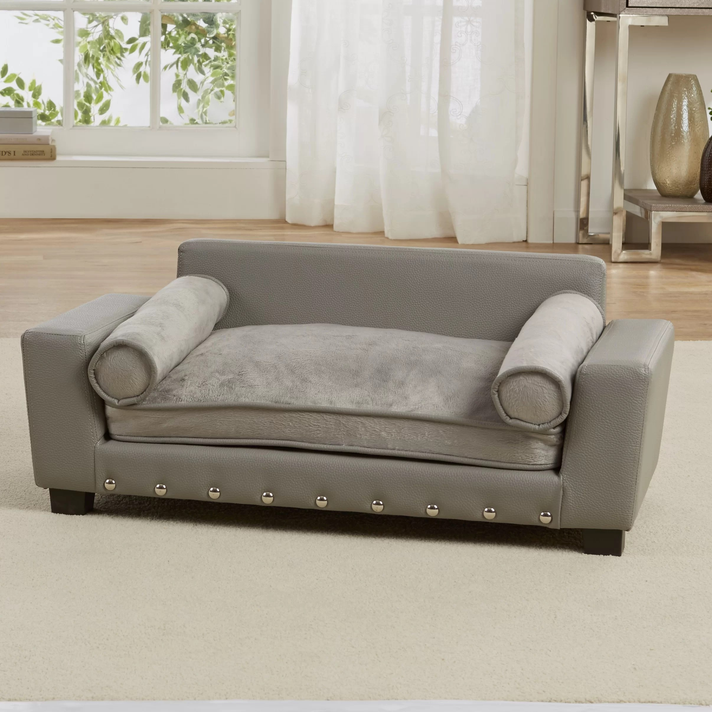 enchanted home mackenzie pet sofa cheap sofas under 400 bootsie scout dog with cushion