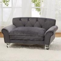 Enchanted Home Pet La Joie Velvet Dog Sofa with Cushion ...