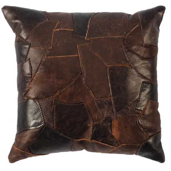 Wooded River Leather Throw Pillow & Reviews   Wayfair