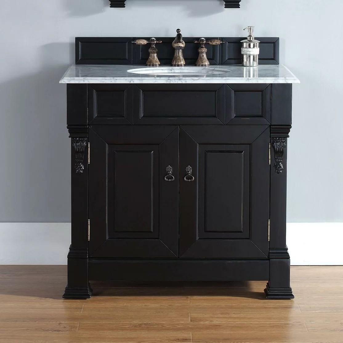 James Martin Furniture Brookfield 36 Single Antique Black