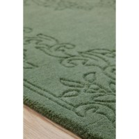 Brook Lane Rugs Imperial Hand-Woven Green Area Rug ...