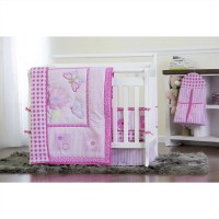 Dream On Me Butterfly and Flower 5 Piece Crib Bedding Set ...