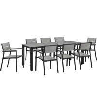 Modway Maine 9 Piece Outdoor Patio Dining Set | Wayfair