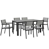 Modway Maine 7 Piece Outdoor Patio Dining Set & Reviews ...