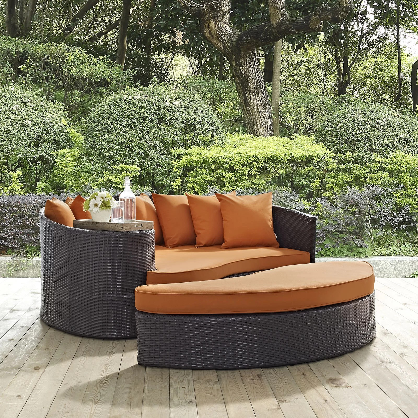 Modway Convene Outdoor Patio Daybed with Cushions  Wayfair