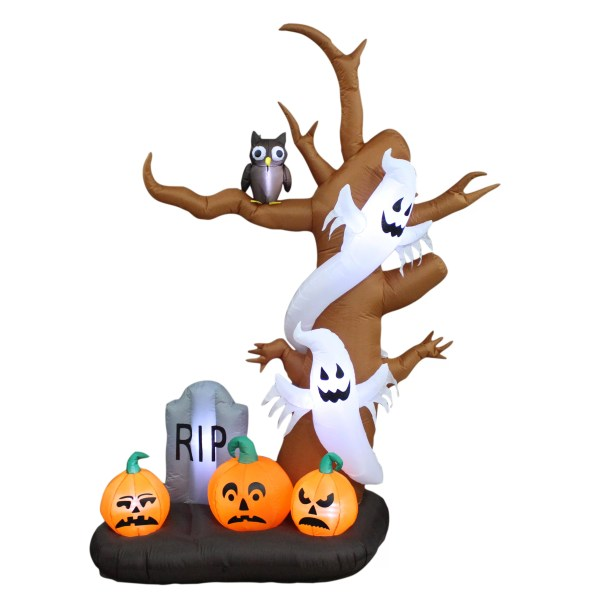 Bzb Goods Halloween Inflatable Tree Ghost Pumpkin And