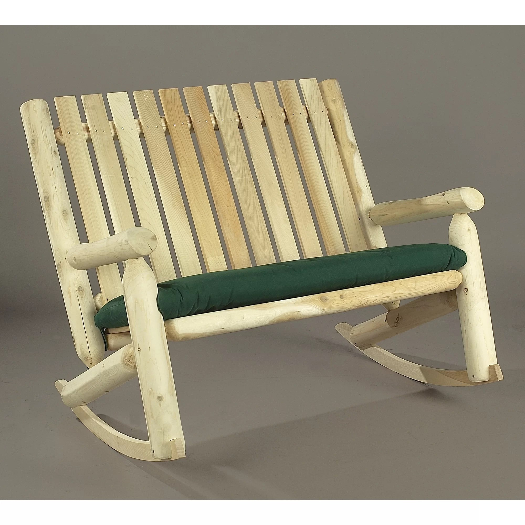 cedar rocking chairs microfiber chaise lounge chair rustic indoor outdoor double
