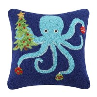 Peking Handicraft Octopus Holding Tree Wool Throw Pillow ...