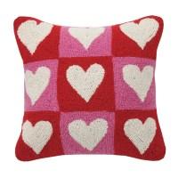 Peking Handicraft Checkered Heart Valentine's Hook Wool ...