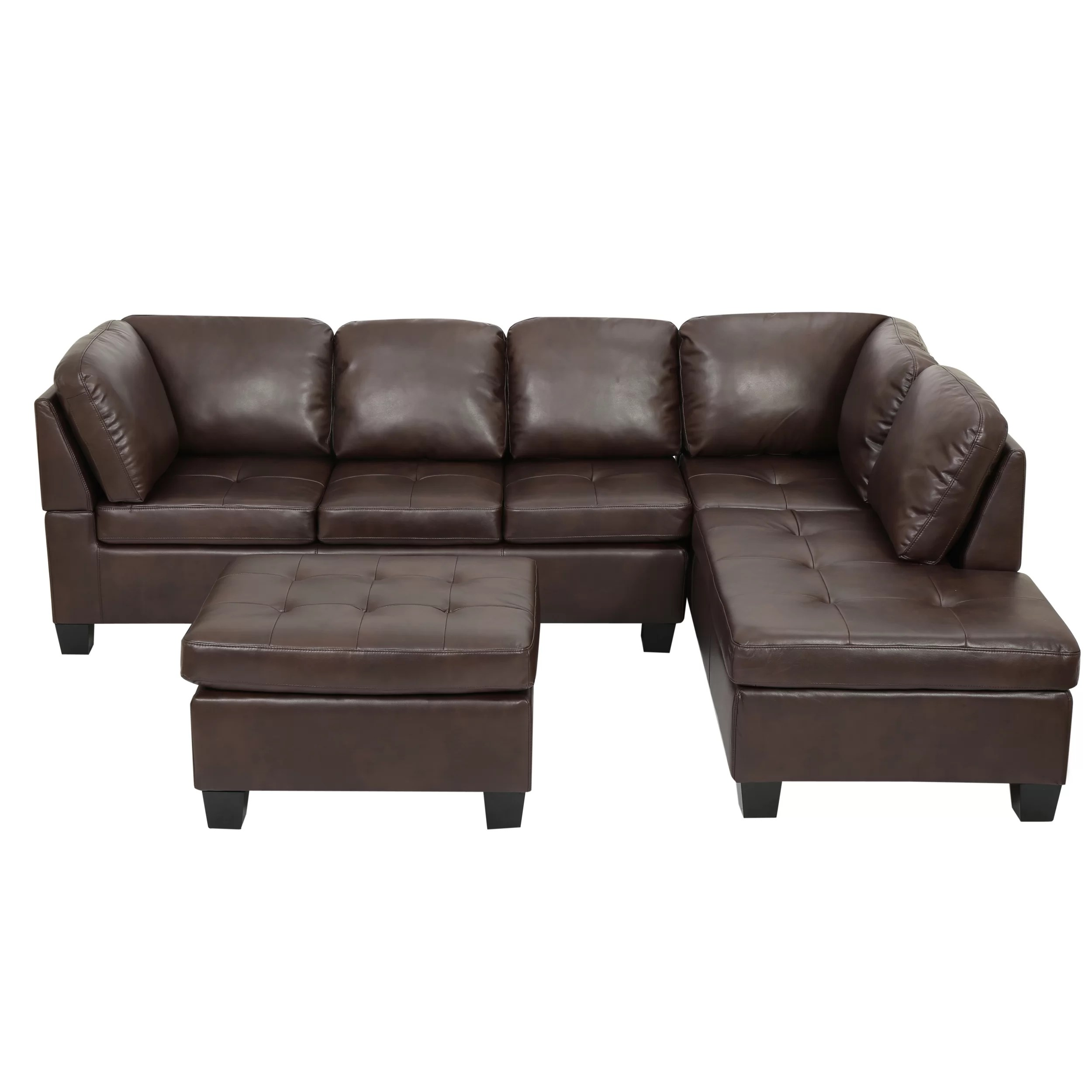 pu leather sofa reviews offer home loft concepts evan sectional and wayfair