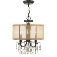 Crystorama Hampton 3 Light Drum Shade Chandelier & Reviews